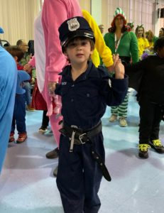 Preschooler attends party as police officer