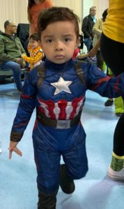 Preschooler attends party as Captain America