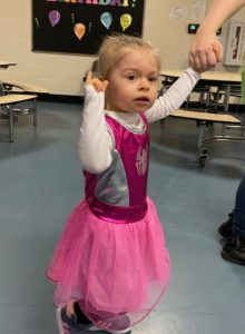 Preschooler arrives as ballerina