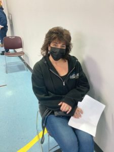 """Gina Goldsmith, an employee at Barbara C. Wilson, got vaccinated because """"I want to see and spend time with my parents!"""""""